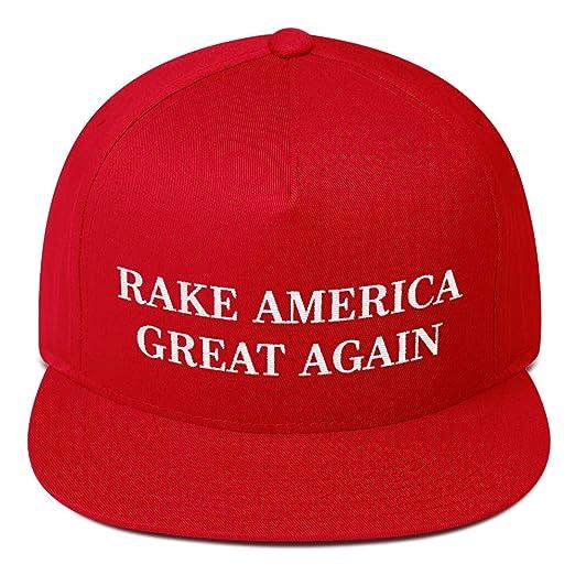 47b865f25d5 Rake America Great Again Hat (Flat Bill) Trump on California Wildfires  Parody at Amazon Men s Clothing store