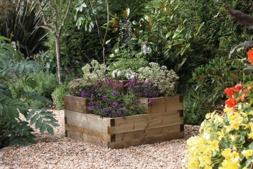 Forest Caledonian Tiered Raised Bed Amazon Co Uk Garden Outdoors