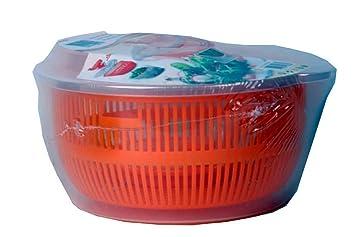 Mediablue salatschleuder mit kurbel und ausgießer salatschüssel