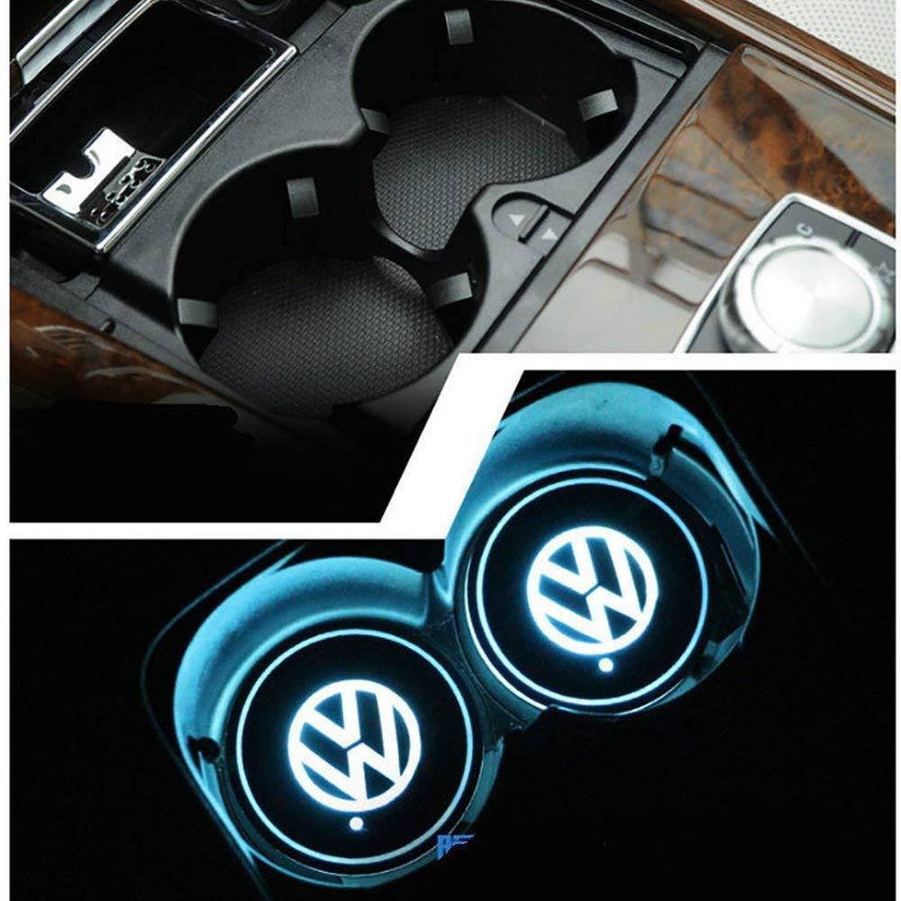 per tutte le auto 2 proiettori LED universali senza fili per auto luci di benvenuto con logo laser