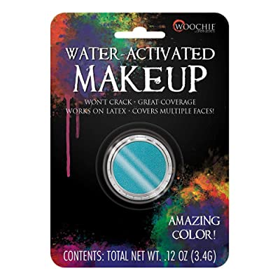Woochie Water Activated Makeup - Professional Quality Halloween and Costume Makeup - (Teal, 0.1 oz): Toys & Games [5Bkhe1405956]