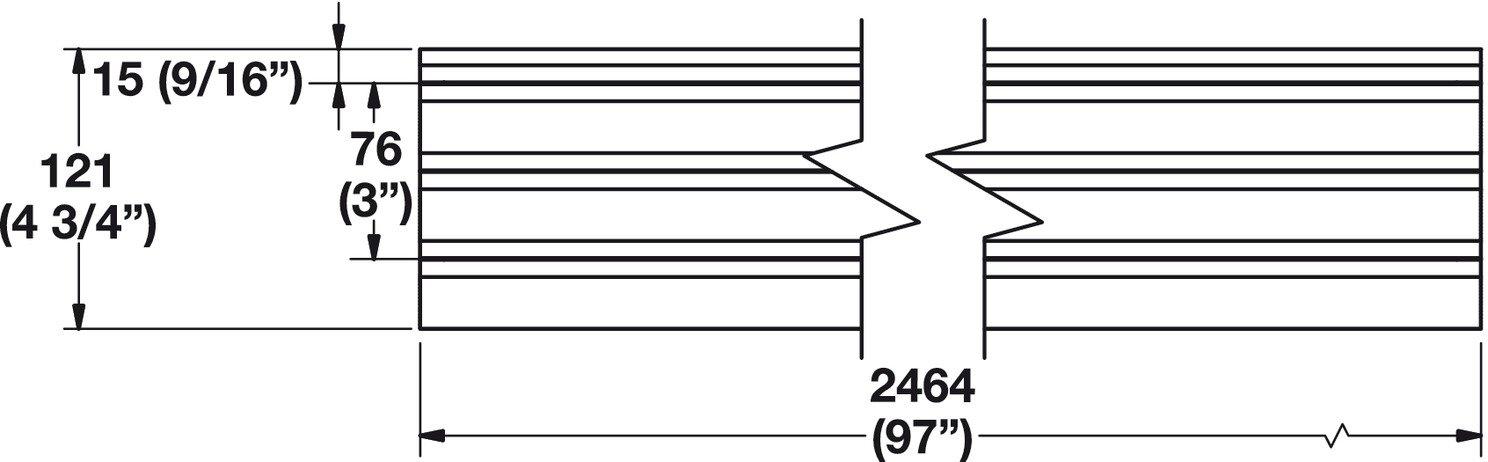 Hafele Wall Track, Omni Track (48'')