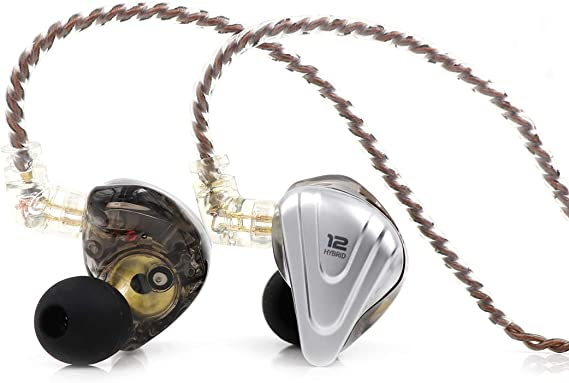 Linsoul KZ ZSX 5BA+1DD 6 Driver Hybrid in-Ear HiFi Earphones with Zinc Alloy Faceplate