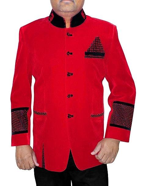 Amazon.com: INMONARCH para hombre 3 pc de terciopelo rojo ...