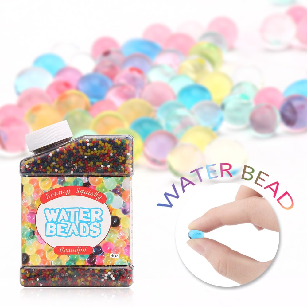 DDSKY Water Beads Rainbow Mix Jelly Water Growing Balls Crystal Gel Sensory Toys for Kids Plants, Wedding and Home Decoration