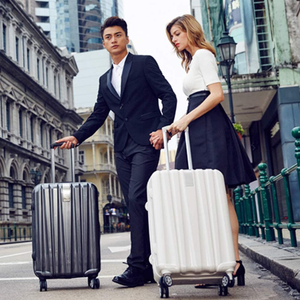 2 Colors ZJ-Trolley Pull Rod Box 4 Sizes Wear Resistant Scratch Proof Luggage Snake Pattern Universal Wheel Pull Rod Box Business Travel Box Student Password /&/&