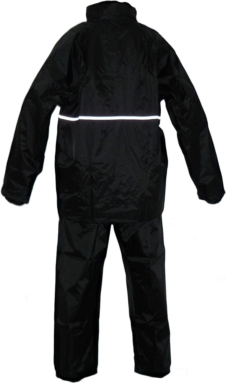 Protectwear RK-RS-11-XXXL Traje de Lluvia para Motocicleta Negro Talla XXXL