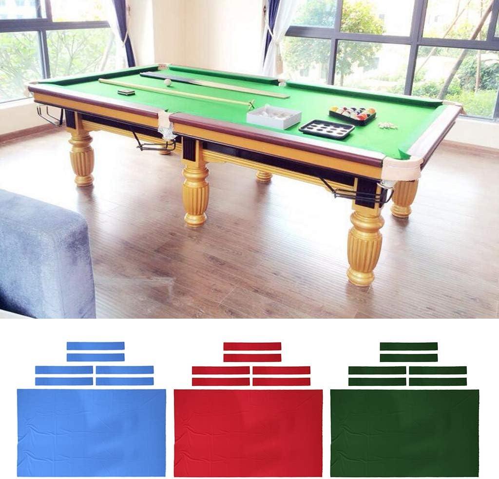 Tachiuwa 8 Performance Pool Table Felt Billiard Cloth /& 6 Cushion Cloth Strips for 8 Foot Billiards Table Accessories Select Colors
