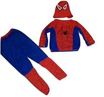 WTR Spiderman Dress Superhero Dress for Kids Economical Costume Limited Use 2.5 to 4 Years (Size - Small)