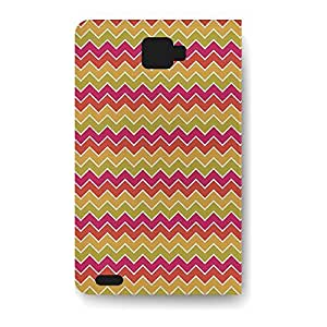 Leather Folio Phone Case For Samsung Galaxy Note 2 Leather Folio - Summer Chevrons Folio Cover
