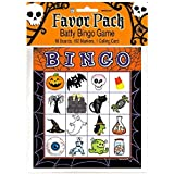 Halloween Bingo Card Party Game - For 16 Players, Ages 4 & Up