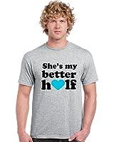 Giftsmate She's My Better Half Romantic Valentine Men t-shirt for Husband-M