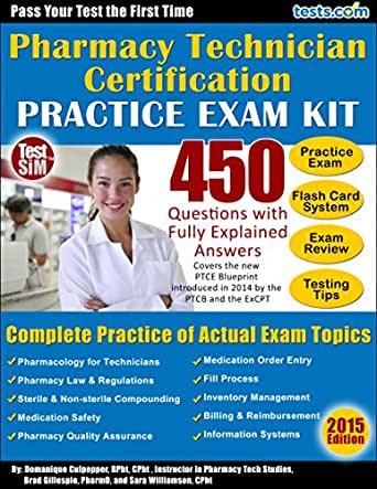 Amazon.com: Pharmacy Technician Certification Practice Exam Kit: 450 ...