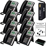 XBLUE X25 VoIP Phone System (C2508) with (8) X3030 IP Phones - Auto Attendant, Voicemail, Caller ID, Paging & Remote Phones