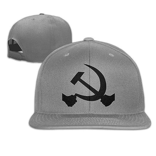 cc791c00f856 HKAB ZLAO Hammer and Sickle Interesting Hat Adjustable Baseball Caps  Hip-hop Cap at Amazon Men s Clothing store