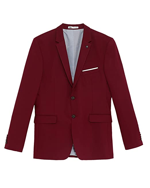 c3495adc Zara Men's Tailored Comfort Suit Blazer 1564/310: Amazon.co.uk: Clothing