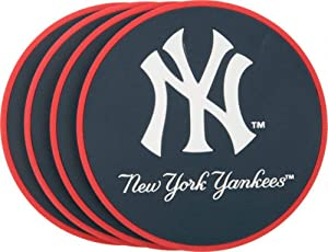 MLB New York Yankees Vinyl Coaster Set (Pack of 4)