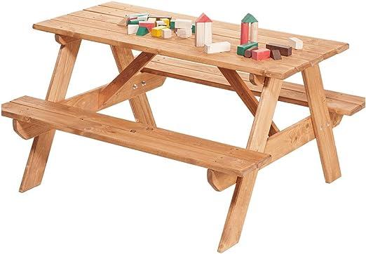 Impwood Table De Jardin Pour Enfants Avec Bancs Et Schirrmloch