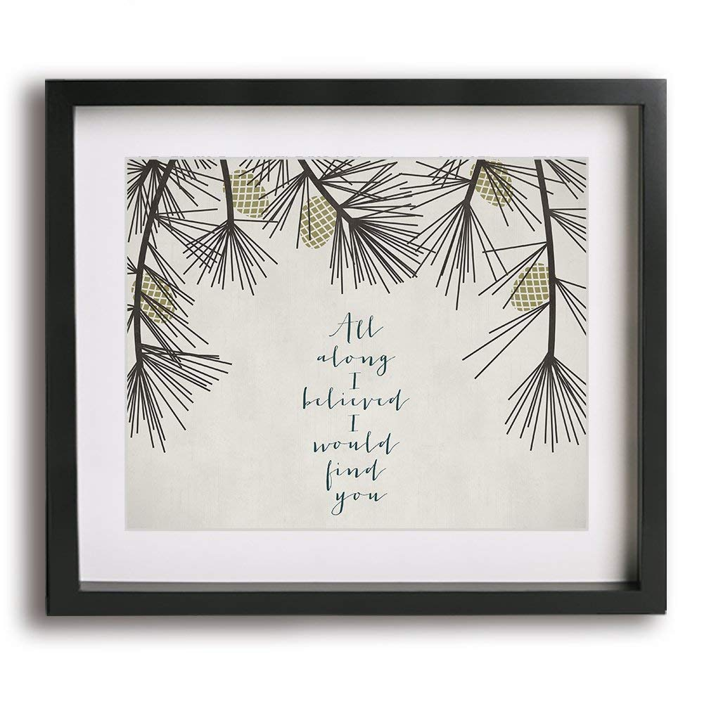 A Thousand Years By Christina Perri Inspired Wedding Song Lyric Art Print Unique First Paper Anniversary Gift Idea
