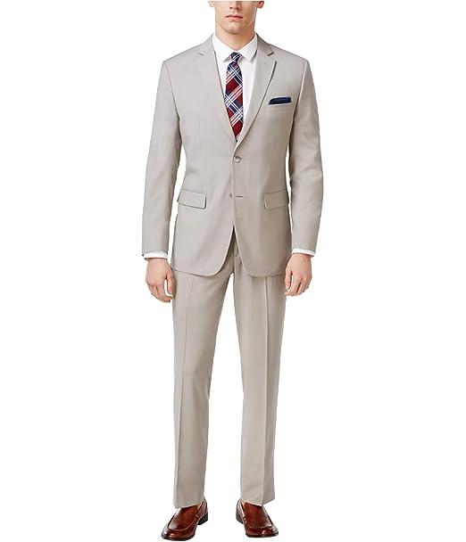 Perry Ellis traje de dos botón Slim Fit Para Hombre - Beige ...