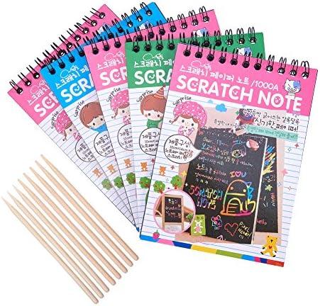 nbeads 子供 スクラッチアート ペーパー 50枚画用紙 3個竹棒 専用竹ペン セット ですぐに使える 画用紙 子供 カラフル DIY 手作り