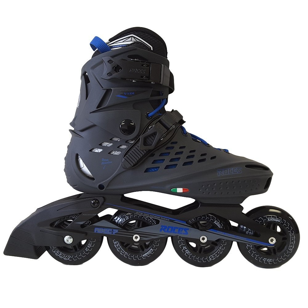 Roces 400470 Men's Model Vidi Fitness Inline Skate, US 13, Charcoal/Strong Blue