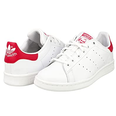 adidas Originals Adidas Stan Smith J B32703, Baskets Fille, Blanc (Footwear  White/Bold Pink), 38 2/3 EU