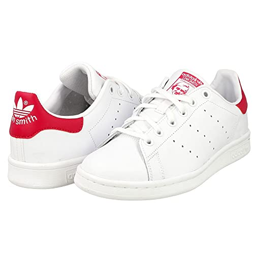 adidas Stan Smith Unisex Trainers in Black Red