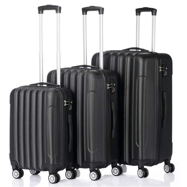 SHUTAO 3-in-1 Multifunctional Large Capacity Traveling Storage Suitcase Black