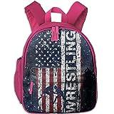 Usa Flag Wrestling Toddler Kids Backpack Preschool Backpack Pink Mini Backpack