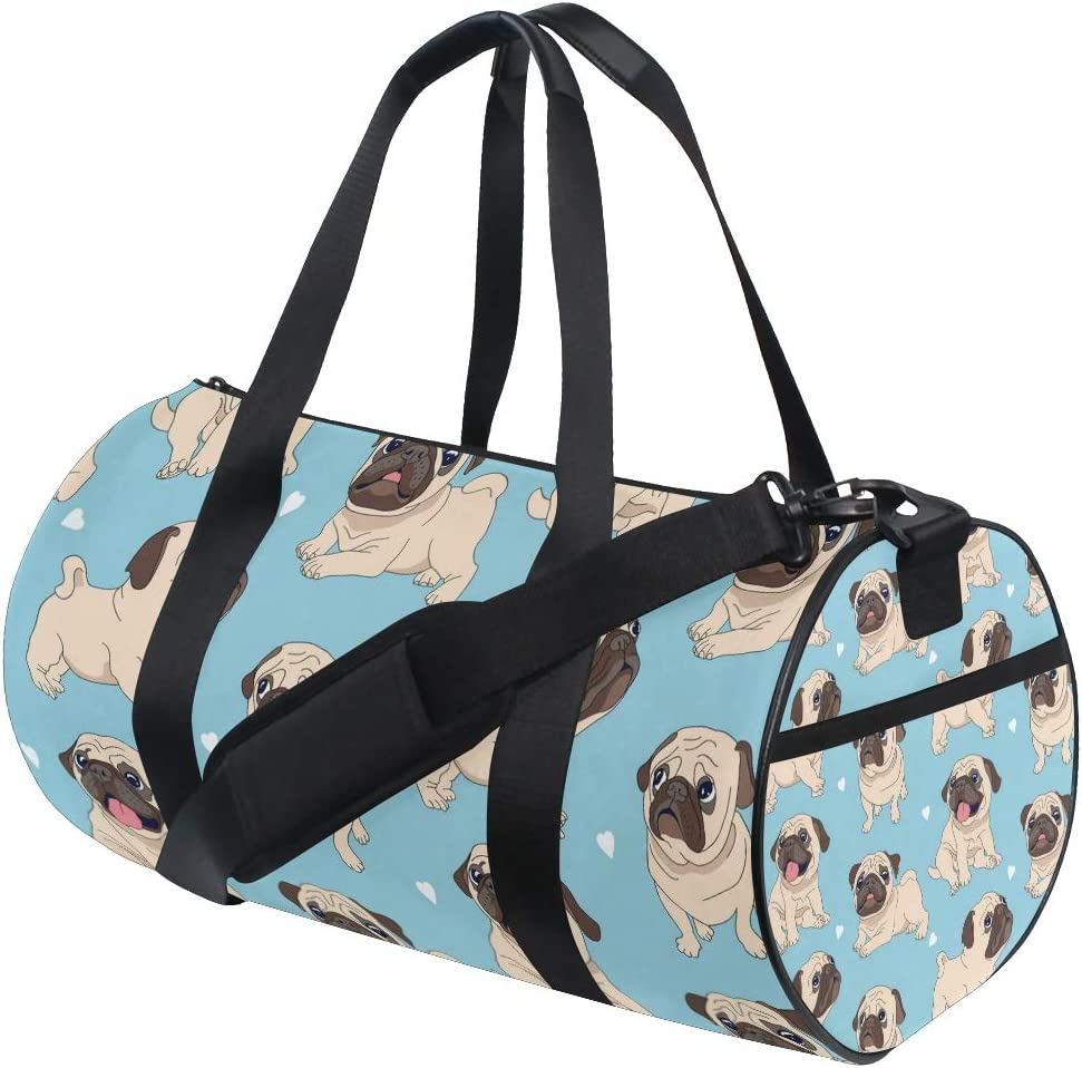 Travel Duffels Dogs Background Duffle Bag Luggage Sports Gym for Women /& Men