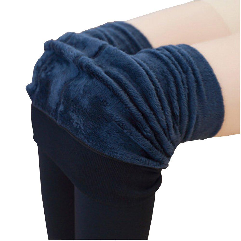 Aoweite Damen Thermo Leggings Strumpfhose Super Warm Fleece Futter Blickdicht Winter Leggins