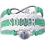 Soccer Gifts- Soccer Bracelet, Soccer Jewelry, Adjustable Soccer Charm Bracelet- Perfect Soccer Gifts for Girls
