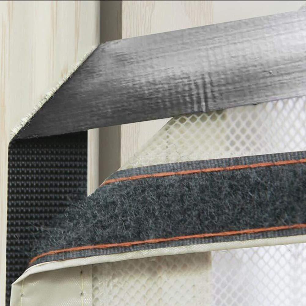 Maglia Zanzariera Incollaggio di montaggio senza foratura-Bianca 140x220cm Zanzariera magnetica per porte Heavy duty 55x87inch