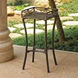 International Caravan Valencia Resin Wicker/Steel Square Plant Stand