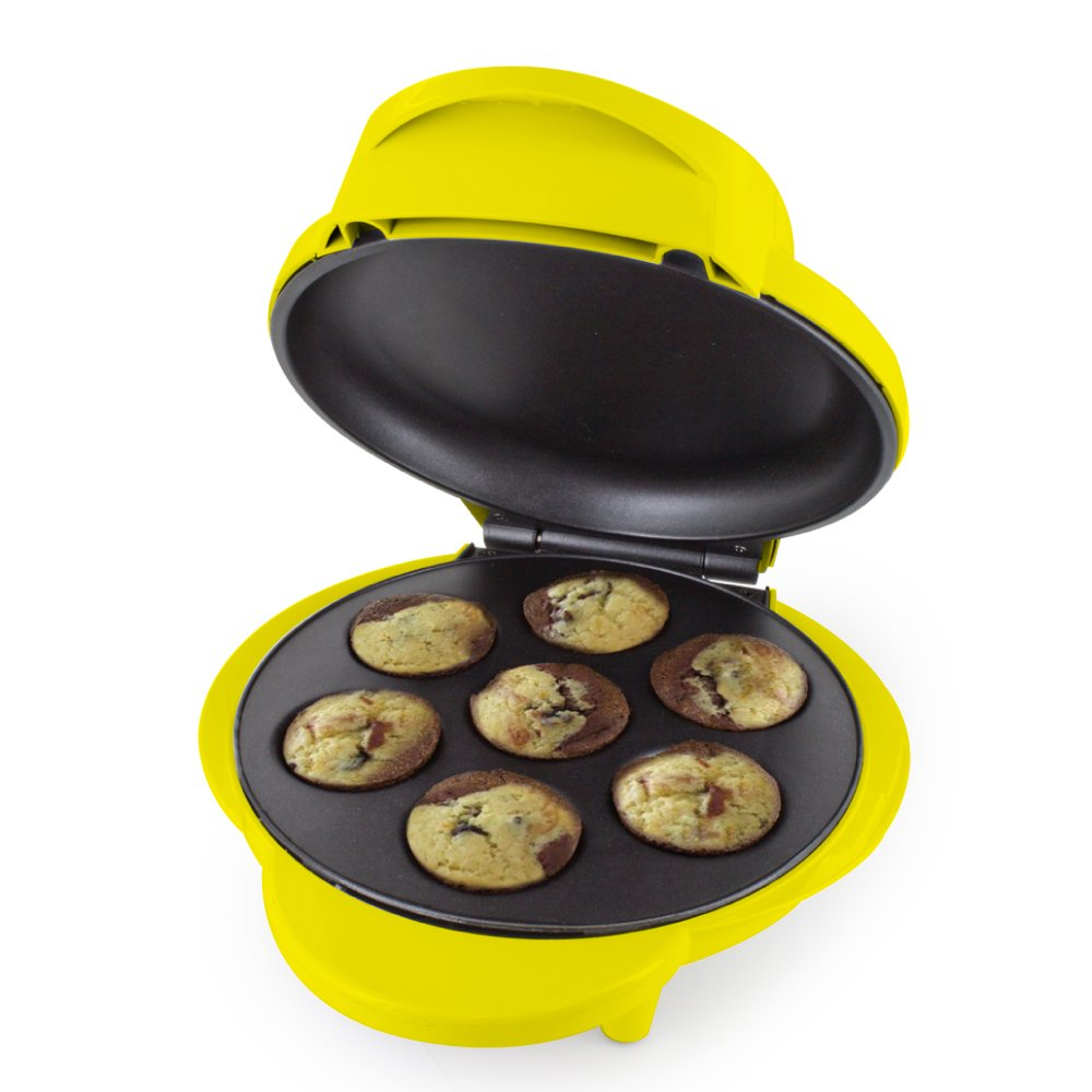 Smart Planet MCM‐1NQ Nestle Nesquik Cupcake and Brownie Bite Maker, Yellow