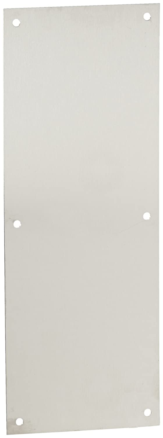 Four Beveled Edges Rockwood 70E.32D Stainless Steel Standard Push Plate 16 Height x 6 Width x 0.050 Thick Satin Finish 16 Height x 6 Width x 0.050 Thick Rockwood Manufacturing Company