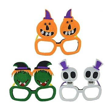 Amosfun 3 UNIDS Novedad Fiesta de Halloween Gafas de ...