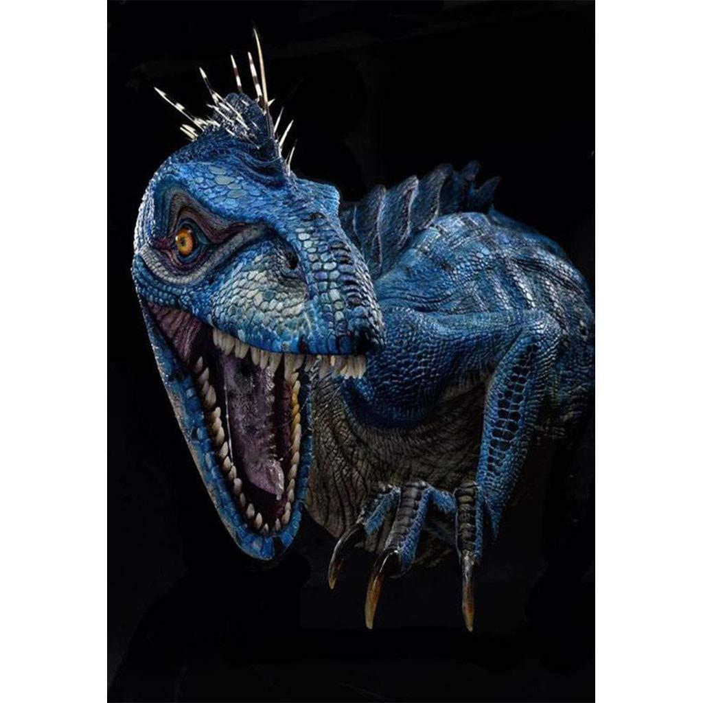certainPL DIY 5D ダイヤモンドペインティング 番号キット フルドリル 恐竜 ラインストーン 刺繍 絵 キャンバス クロスステッチ サプライ アート クラフト 壁装飾 B07PXG1VJ3 E