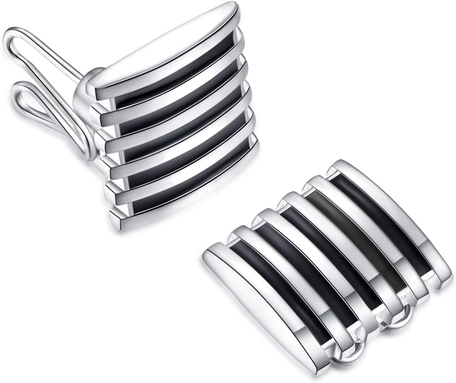 BUTTONCUFF Designer Men's Button Covers - Imitation Cuff Links for Tuxedo, Business or Formal Shirts