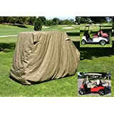 """Golf Cart Storage Cover for EZGo, Club car 4 Seater with 2 Seater Roof up to 58""""L"""