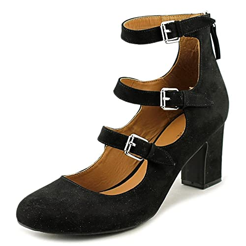 Indigo Rd Womens Ellie Closed Toe Casual Ankle Strap Black Fabric Size 80