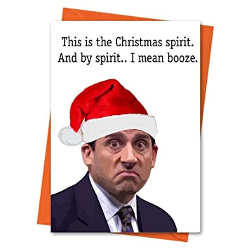 Funny Christmas Card The Office US Michael Scott Holiday Xmas