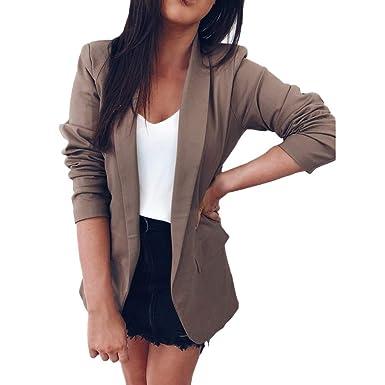 0e45066dfaf61 Blazer Classique Femme,Overdose Soldes Manteau Hiver Automne Workwear Slim  Fit Outwear Manches Longues Casual
