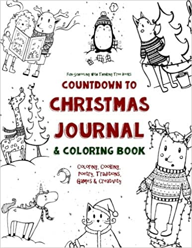 Countdown to Christmas Journal & Coloring Book: Coloring, Cooking ...