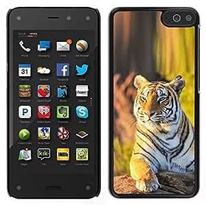 Caucho caso de Shell duro de la cubierta de accesorios de protección BY RAYDREAMMM - Amazon Fire Phone - tigr zver Vzglyad zelen
