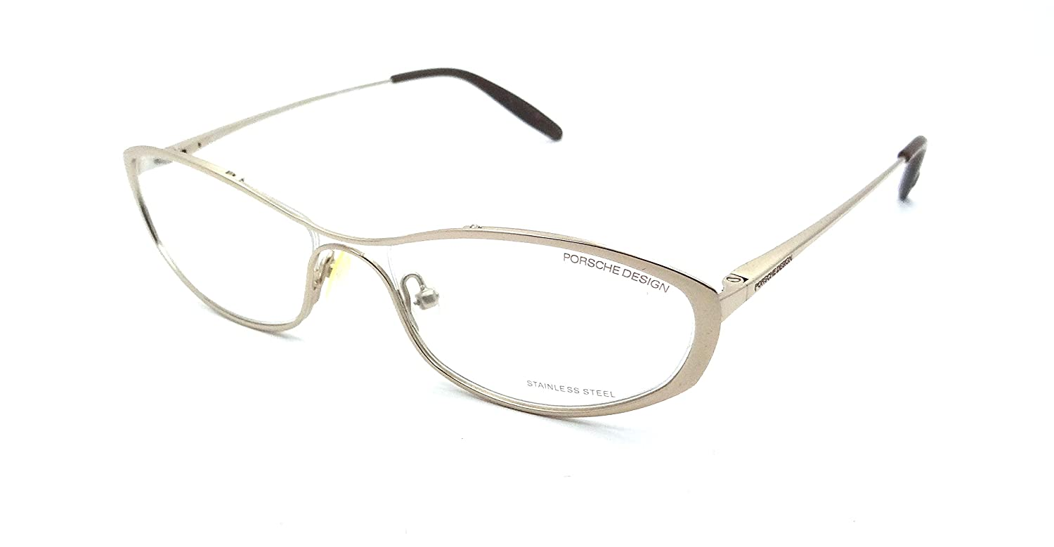 cd72a5fadc9d Porsche Design Rx Eyeglasses Frames P7005 B 54x17 Gold Made in Japan at  Amazon Women s Clothing store