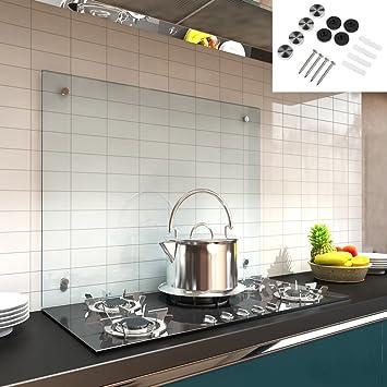 Glas küchenrückwand fliesenspiegel  Melko® Glas Küchenrückwand / Spritzschutz, Herdblende – 6 mm ESG ...