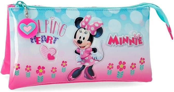 Estuche tres compartimentos Minnie Heart: Amazon.es: Equipaje