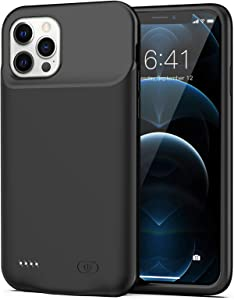 Battery Case for iPhone 12 Pro Max, 8500mAh Slim Protective Portable Charging Case Rechargeable Extended Battery Pack for iPhone 12 Pro Max (6.7 inch) Charger Case (Black)